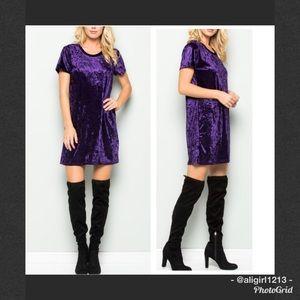 EMMA Velvet Tunic Dress
